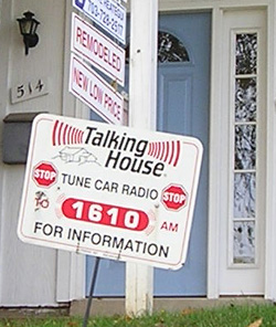 Talking House sign