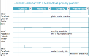 Facebook Editorial Calendar Template