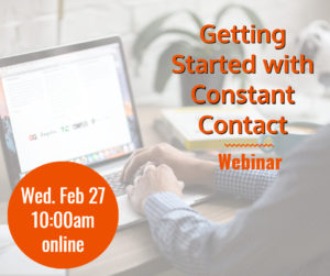 Webinar: Getting Started with Constant Contact @ online webinar | McLean | Virginia | United States