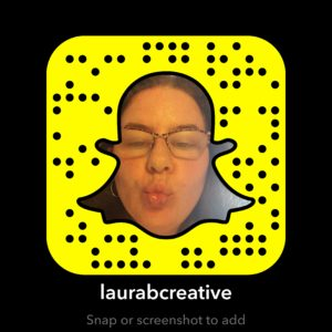 Snapchat Snapcode for @laurabcreative