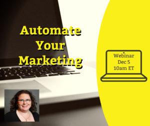 Webinar: Automate Your Marketing @ online