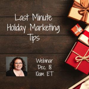 Webinar: Last Minute Holiday Marketing Tips @ online | Herndon | Virginia | United States