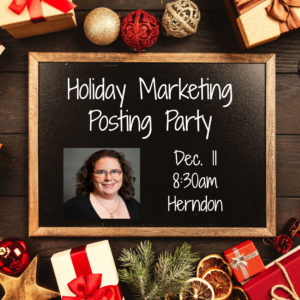 Holiday Marketing Posting Party @ Pinot's Palette | Herndon | Virginia | United States