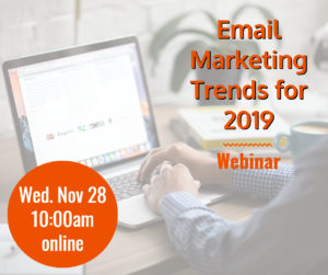 Webinar: Email Marketing Trends for 2019 @ online | Herndon | Virginia | United States