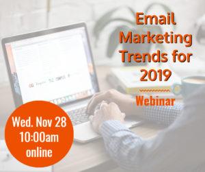 Webinar: Email Marketing Trends for 2019 @ online | Herndon | Virginia | United States
