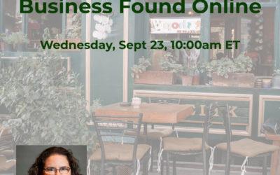 Webinar: Get Your Local Business Found Online
