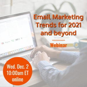 Webinar: Email Marketing Trends for 2021 and beyond @ online | Herndon | Virginia | United States