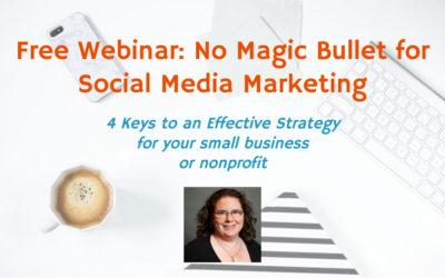 Webinar: No Magic Bullet for Social Media Marketing