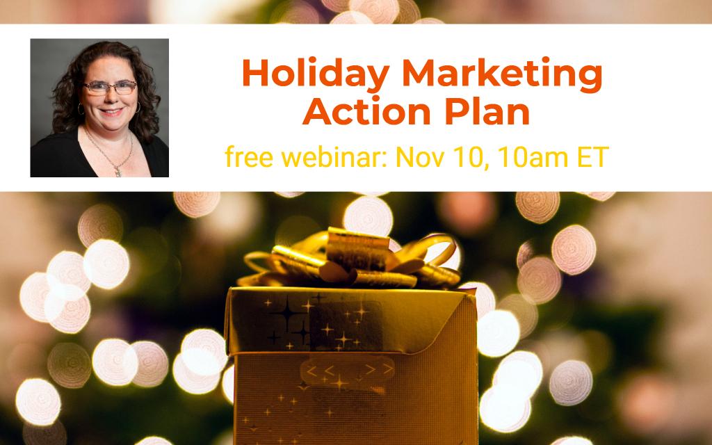 Holiday Marketing Action Plan webinar